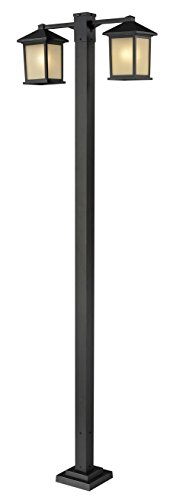 Z-Lite-507-2-536P-ORB-Oil-Rubbed-Bronze-Holbrook-2-Light-Outdoor-Post-Light-with-White-Seedy-Shade-0