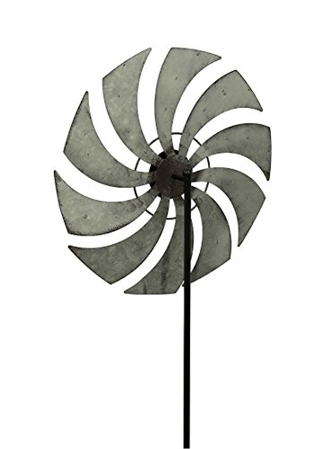 Zeckos-Distressed-Metal-Windmill-Garden-Stake-Wind-Spinner-59-12-Inches-High-0-0