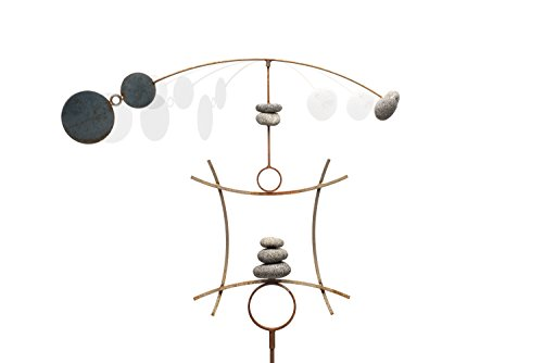 Zen-Garden-Spinner-Kinetic-Wind-Sculpture-Balanced-Arch-Yard-Decor-With-Rock-Cairn-And-Stake-Relaxing-Metal-Art-Wind-Vane-Large-Handmade-In-The-USA-0