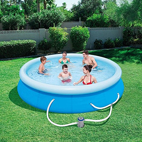 oldzon-12-x-30-Fast-Set-Inflatable-Above-Ground-Swimming-Pool-wFilter-Pump-With-Ebook-0-1