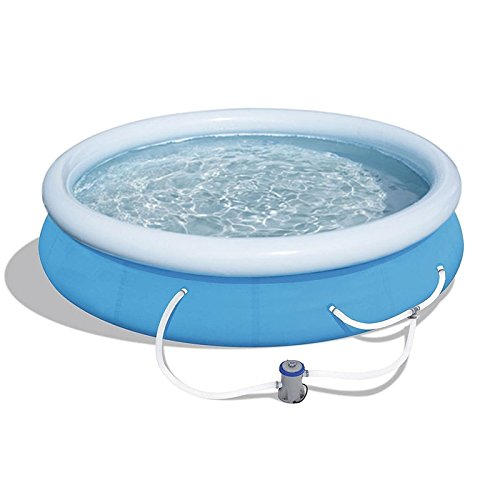 oldzon-12-x-30-Fast-Set-Inflatable-Above-Ground-Swimming-Pool-wFilter-Pump-With-Ebook-0