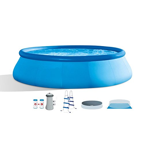 oldzon-15-x-42-Inflatable-Easy-Set-Above-Ground-Swimming-Pool-wLadder-Pump-With-Ebook-0