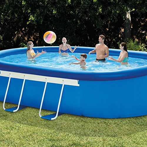 oldzon-18-x-10-x-42-Inches-Oval-Frame-Pool-Easy-Set-with-1000-GPH-Filter-Pump-With-Ebook-0-1