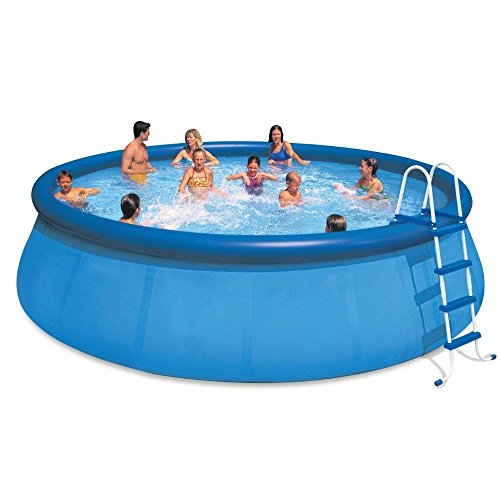 oldzon-18-x-48-Inflatable-Easy-Set-Above-Ground-Pool-1500-GPH-Pump-With-Ebook-0