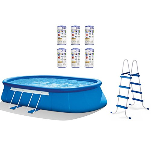 oldzon-20-x-12-x-48-Oval-Frame-Above-Ground-Pool-Set-6-Filter-Cartridges-With-Ebook-0