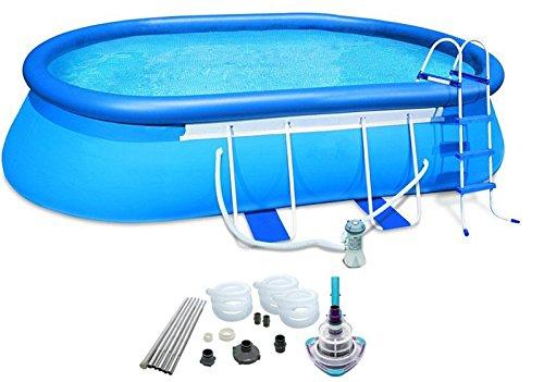 oldzon-20-x-12-x-48-Oval-Frame-Pool-Set-w1500-GPH-Filter-Pump-V-TRAP-Vac-With-Ebook-0