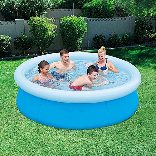 oldzon-6-x-20-Fast-Set-Round-Inflatable-Above-Ground-Kids-Swimming-Pool-Blue-With-Ebook-0-1