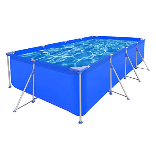 vidaXL-Above-Ground-Swimming-Pool-Steel-Rectangular-12-11-x6-10-x2-7-Spa-0